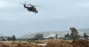 Вертолет ВКС России совершил вынужденную посадку в Сирии