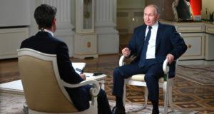 Путин одернул корреспондента NBC во время интервью
