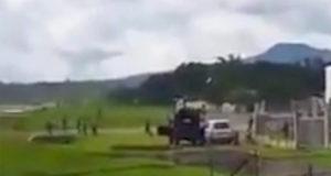 Очевидцы запечатлели момент крушения самолета на Филиппинах